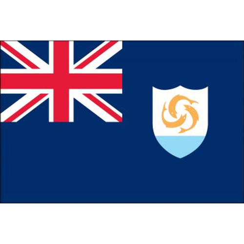 """Anguilla Courtesy Flag 12"""" x 18"""" Nylon"""