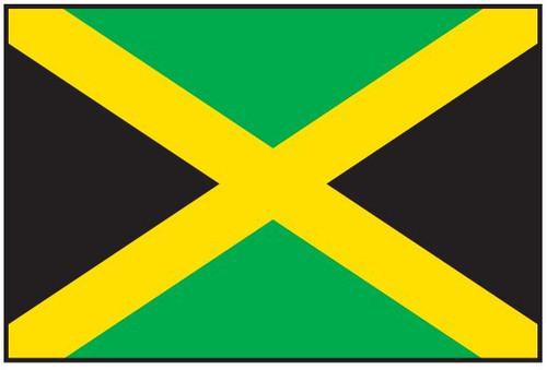 "Jamaica Courtesy Flag 12"" x 18"" Nylon"
