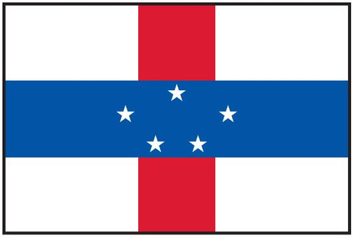 "Netherlands Antilles Courtesy Flag 12"" x 18"" Nylon"