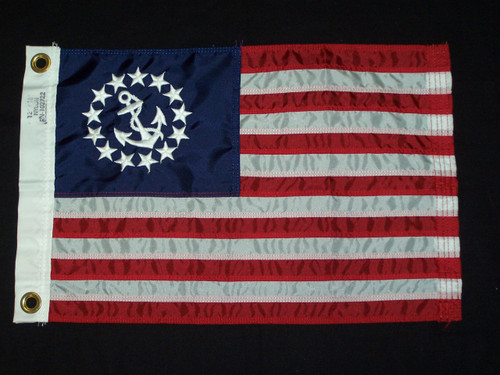 """U.S. Yacht Ensign 24"""" x 36"""" Nylon Embroidered"""