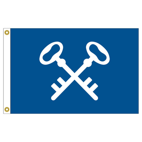 "Quartermaster Flag 12"" x 18"" Nylon Sewn Applique"