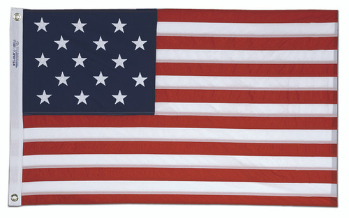 Star Spangled Banner U.S. Flag Embroidered and Sewn Nylon