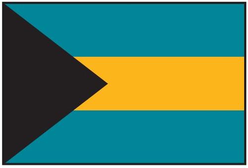"""Bahamas National Courtesy Flag  16' x 24"""" Nylon"""