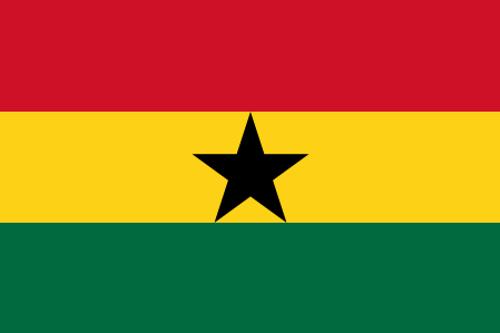 "Ghana Courtesy Flag 12"" x 18"" Nylon"