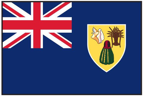 "Turks and Caicos National Courtesy Flag 12"" x 18"" Nylon"