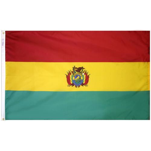 Bolivia Courtesy Flag
