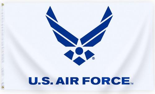 US Air Force Logo Flag Printed Nylon 3' x 5'