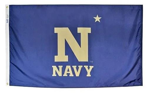 US Naval Academy Logo Flag Printed Nylon 3' x 5'