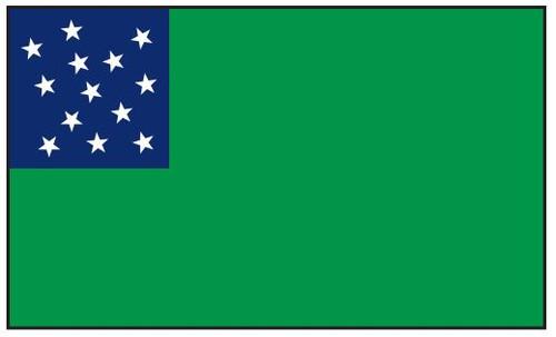 Green Mountain Boys Historic American Flag 3' x 5' Printed Nylon