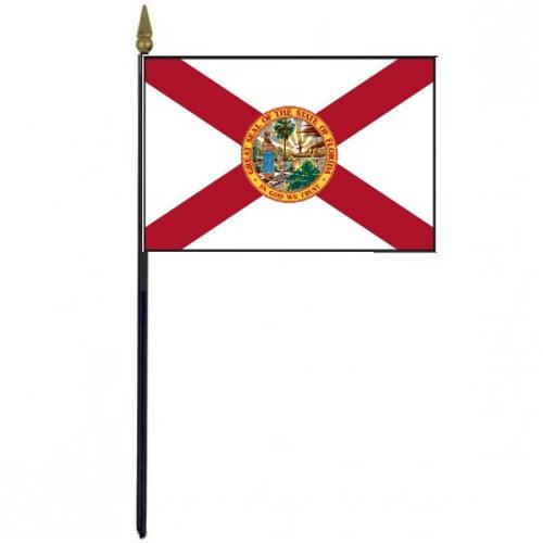 "Florida Stick Flag - 4"" x 6"" Desktop Flag"