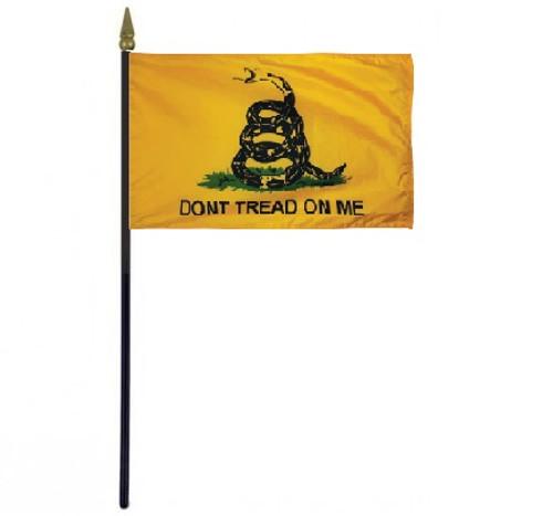 "Don't Tread on Me Stick Desktop 4"" x 6"" Flag"
