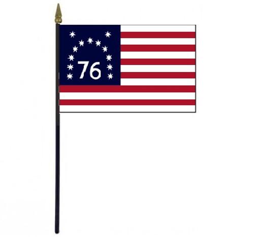 """Bennington Stick Flag 4"""" x 6"""" Desktop Flag"""