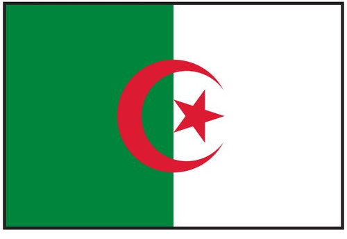 Algeria Flag Printed Nylon