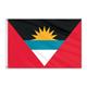 "Antigua and Barbuda Courtesy Flag 12"" x 18"" Nylon"