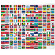 Complete Set of 193 UN Member Nation's Flags