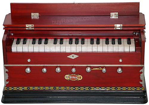 BINA NO 11 Harmonium, 2 Reeds 3.25 Octave, 7 Stops, Rosewood Color AGF