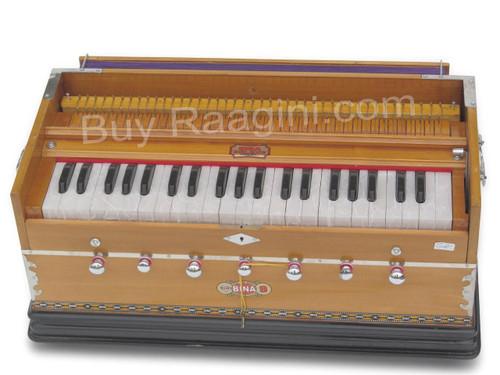 BINA NO. 9 Harmonium, 2 Reeds, 3.5 Octaves, 7 Stops, Coupler AGE