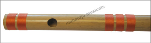 MAHARAJA Bansuri Scale D Natural Med. 17 Inch, Indian Bamboo Flute CFD