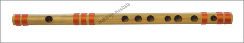 MAHARAJA Bansuri, Scale C Natural 9.5 Inch, Indian Bamboo Flute CEI