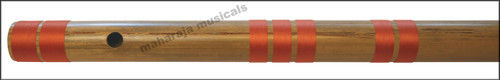 MAHARAJA Bansuri Scale C Natural Bass 35 Inch, Indian Bamboo Flute CEG