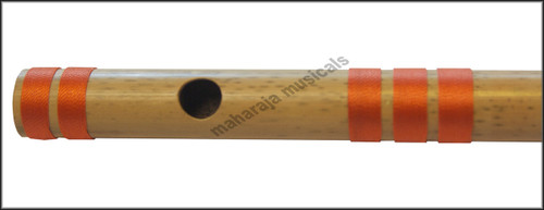 MAHARAJA Bansuri Scale A Natural Med. 11 Inch, Indian Bamboo Flute CEB