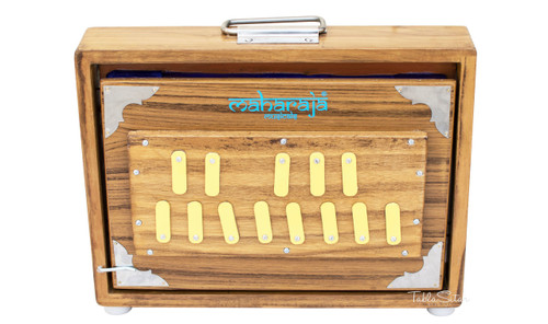 MAHARAJA Shruti Box, Teak Wood - 13 Notes, Sur Peti ABC
