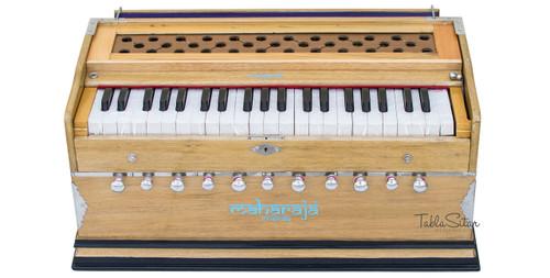 MAHARAJA Harmonium, 11 Stop, A440, 42 Keys, Natural Color, Coupler AAE