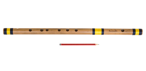 Sarfuddin Flutes Concert, Scale A Sharp Bass 21.5 Inch, Indian Bamboo Flute DEC