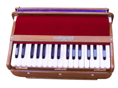 MAHARAJA Harmonium, Hari Naam Natural Color Safri, 2 1/2 Octave, Book, Bag, Tuned To A440, Musical Instrument Indian FFG