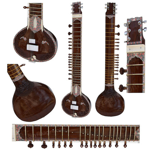 BAWABROS Electric Sitar, Dark Natural Color DJE