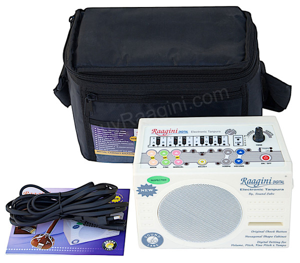 Raagini Electronic Tanpura By SOUND LABS, Bag, Manual & Mains Cord DG