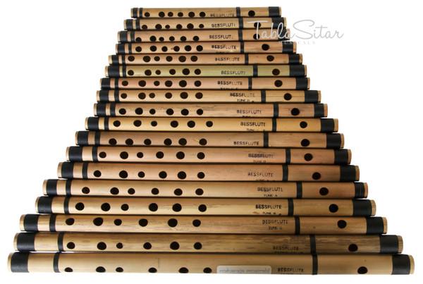 MAHARAJA Set of 18 Pcs Basic Bansuri - Indian Bamboo Flute Set ABE