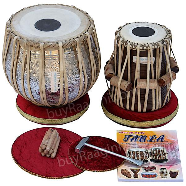 MAHARAJA Concert Ganesha Kalash Tabla, 4.5 Kg Bayan, Finest Dayan DI