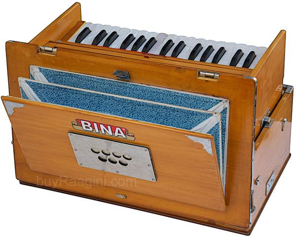 BINA No. 23B Deluxe Harmonium, 2.5 Octaves, Folding, Small DAA