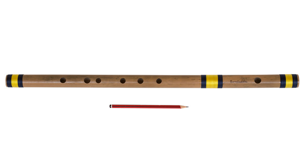 Sarfuddin Flutes Concert, Scale A Natural Bass 23.5 Inch, Indian Bamboo Flute DEA