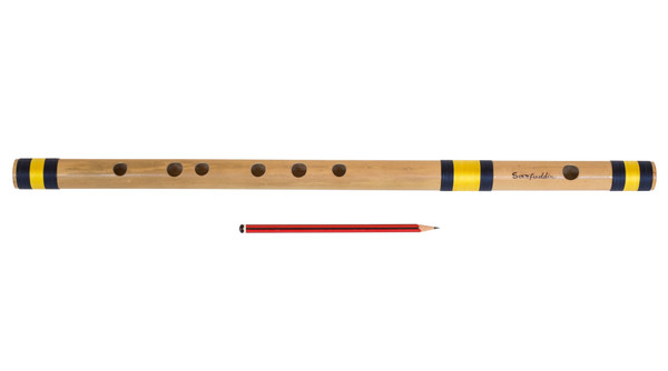 Sarfuddin Flutes Concert, Scale B Nature Bass 20 Inch, Indian Bamboo Flute DEE