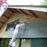 Application of Monocoat Exterior Siding Oil