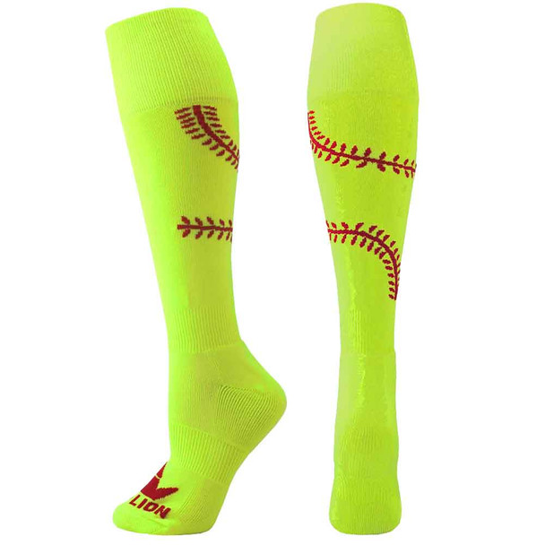 Playball Softball Over the Calf Socks