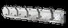 Diamond Plate Coat Hanger, 5 Hook, Aluminum/Black  Hooks