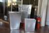 Diamond Plate Trash Cans, Three Sizes, Aluminum Shown
