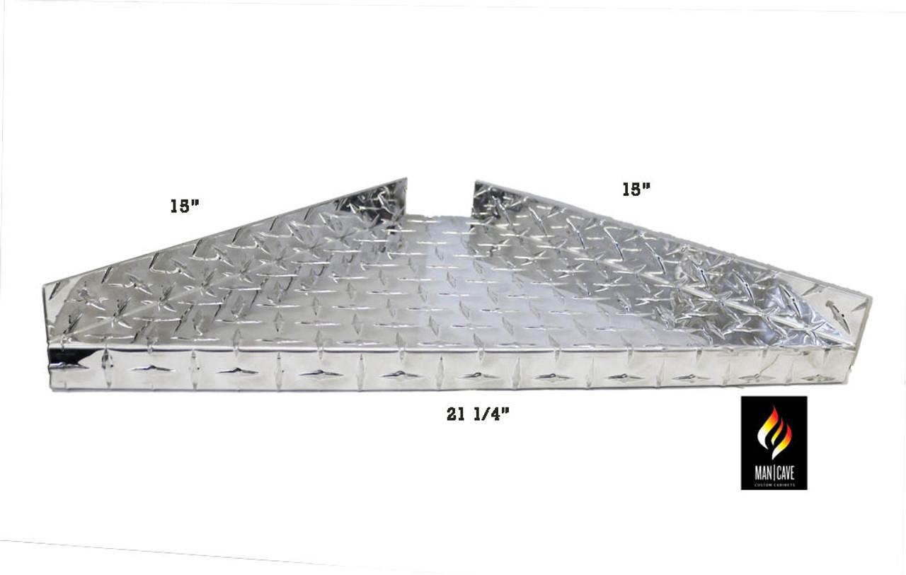 Diamond Plate Corner Storage Shelf