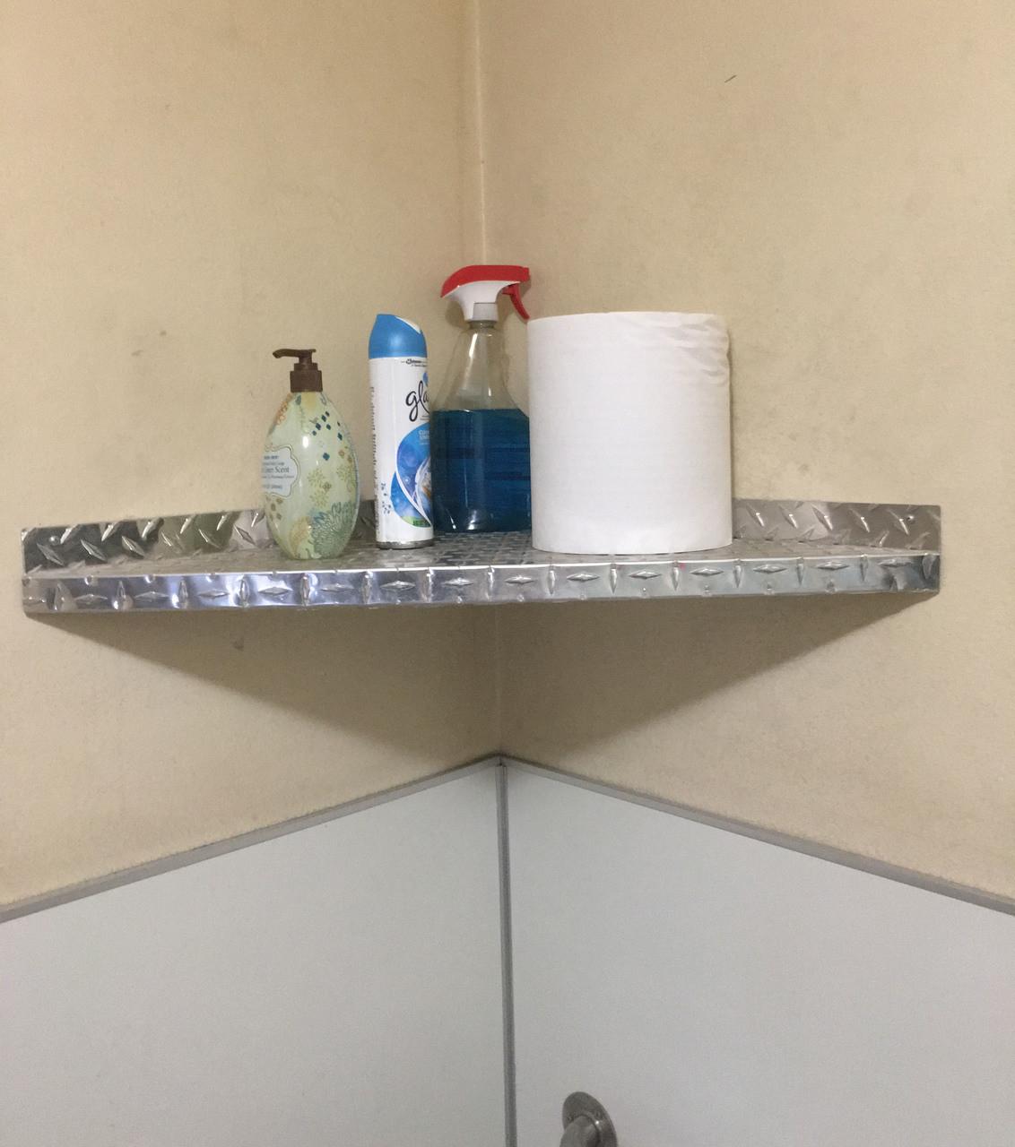 Diamond Plate Corner Shelf