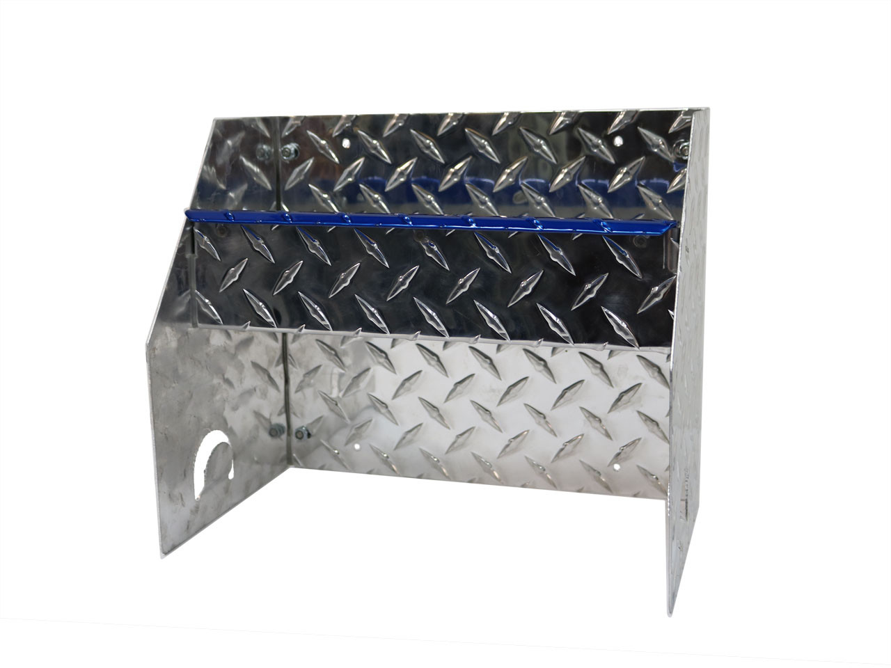 Diamond Plate Blue Accent Hand Cleaner Station with Blue Accent