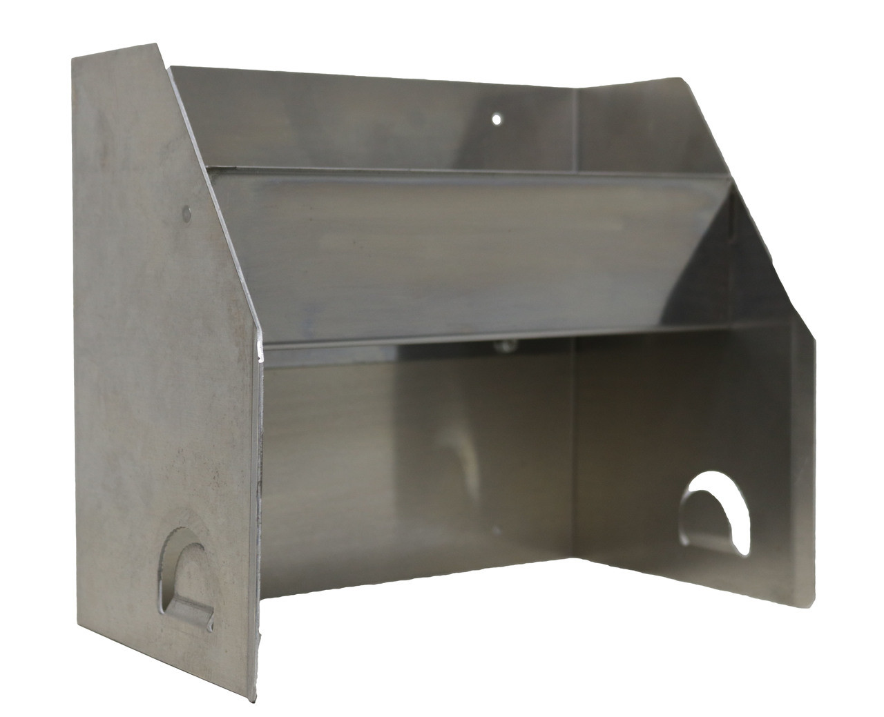 Smooth Aluminum Hand Cleaner Rack with stainless steel tray