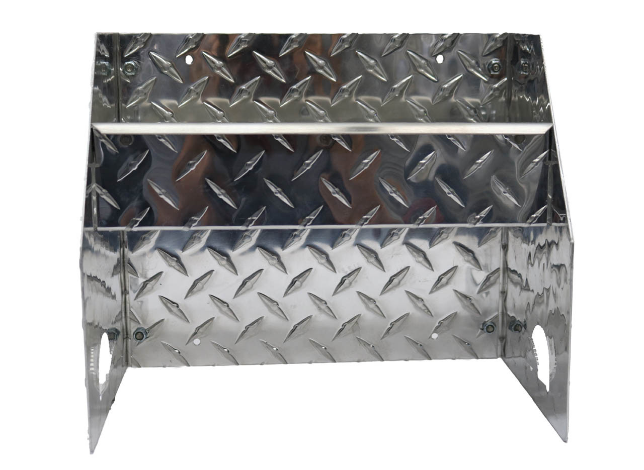 Stainless Steel Accent Diamond Plate Hand Cleaner Station