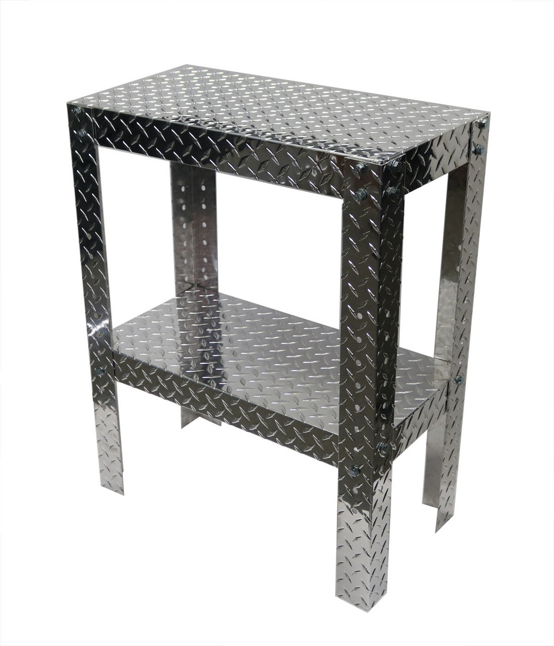 "Diamond Plate Work Table 12"" x 24"" x 30"""