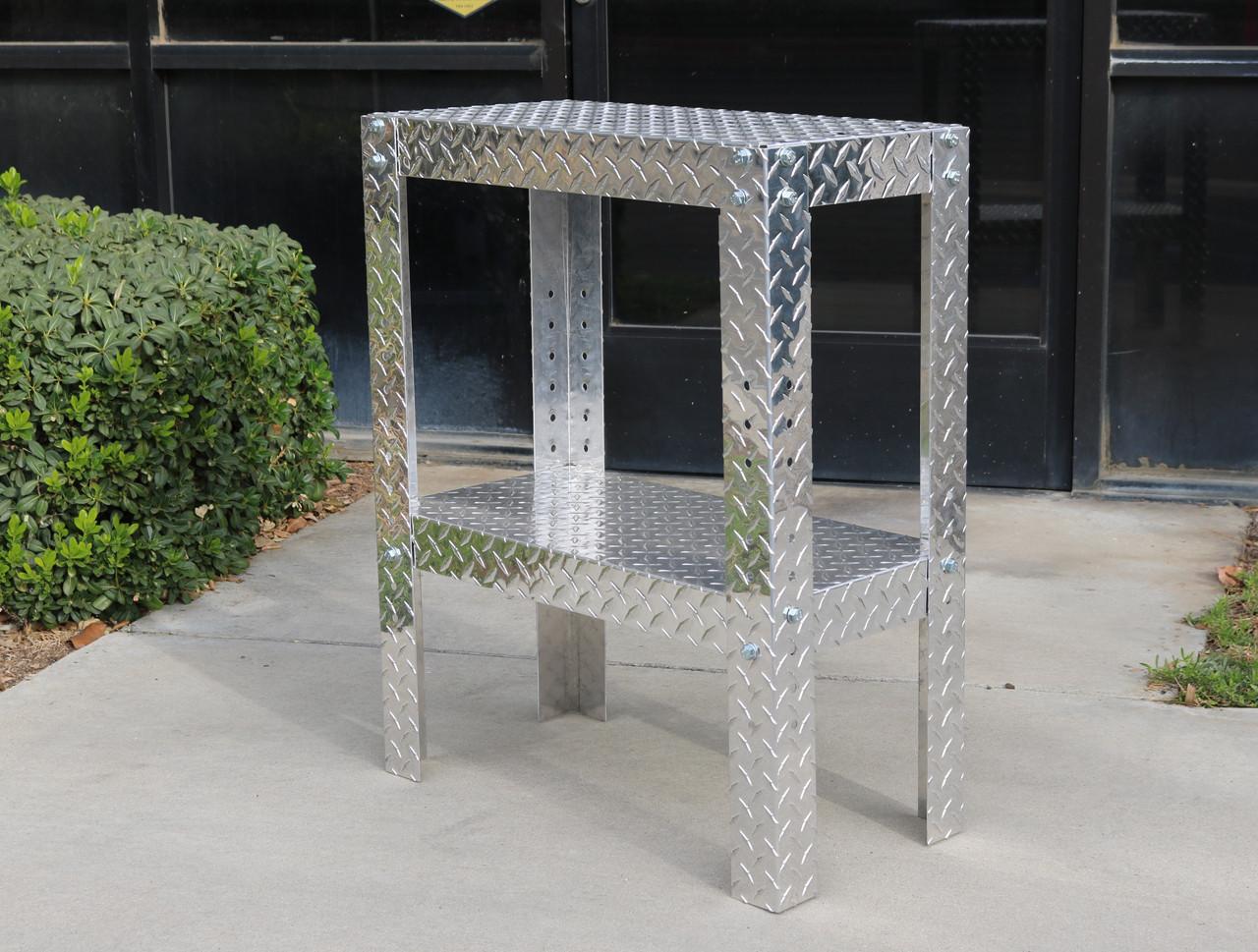 "Diamond Plate Work Table 12"" x 24"" x 30"""