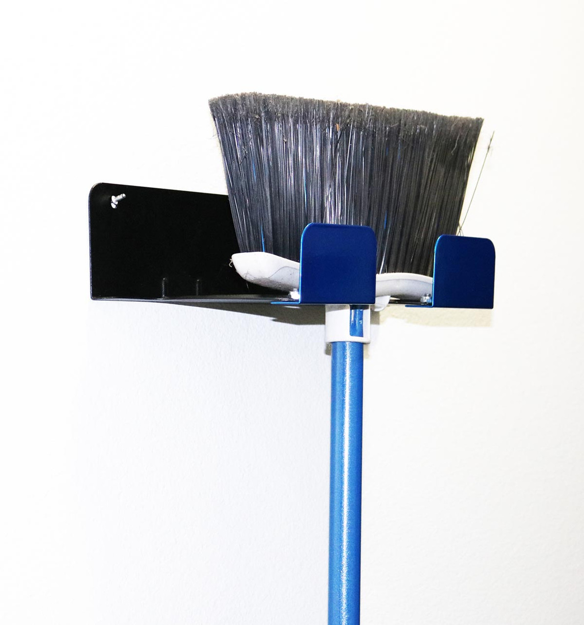 Blue Broom Holder