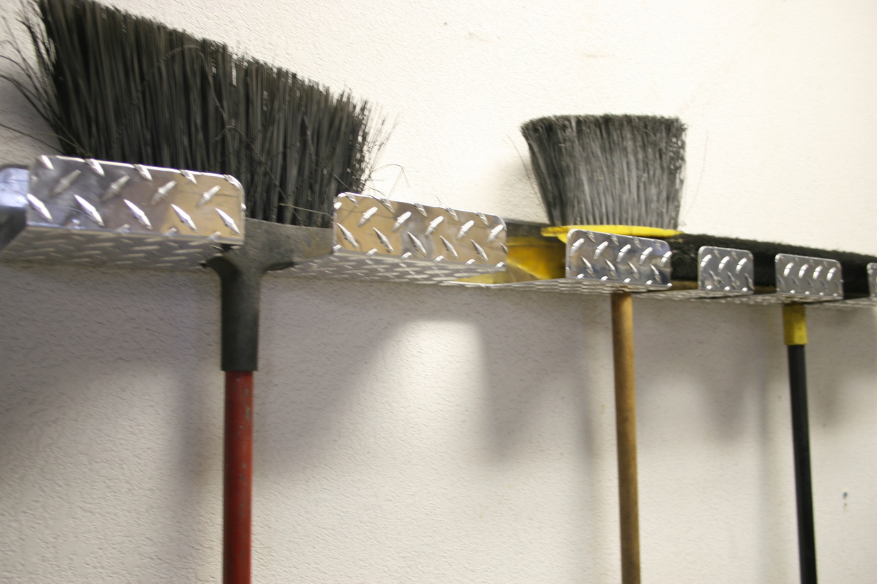 Diamond Plate Broom Holders