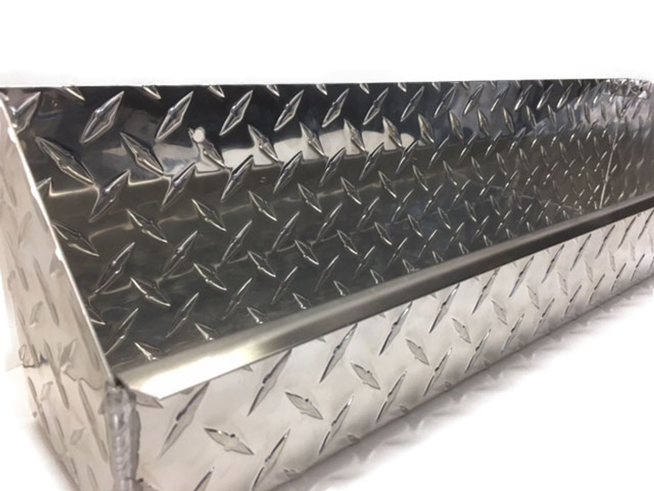 "Diamond Plate Oil and Aerosol Tray 24"" x 4.5"" x 6"" Stainless Steel Accent"
